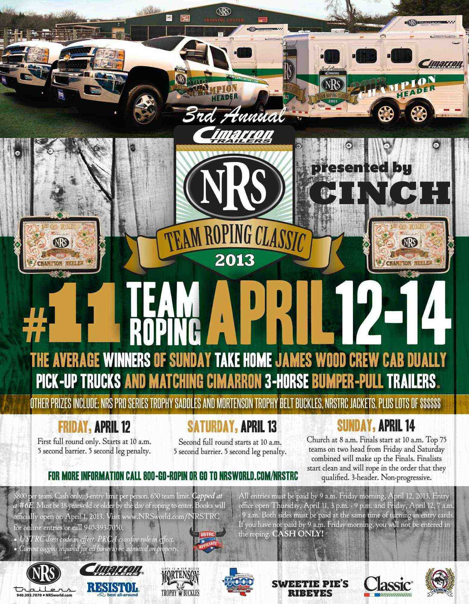 3rd Annual NRS Team Roping Classic