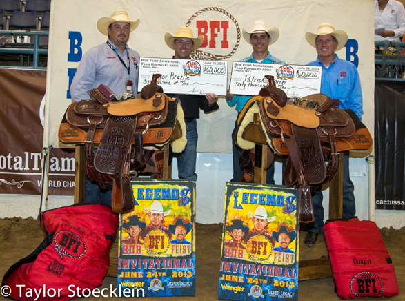 Brazile and Smith trophy pic