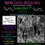 Roping Cattle Special Sale