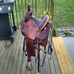 Martin team roping saddle