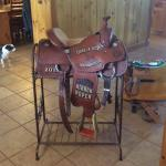 14.5-inch Running P calf roping saddle
